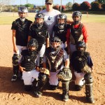 Group Photo of Coach Bennett and Catchers